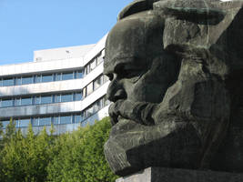 Monumental Bust of Karl Marx 2 by bitstarr