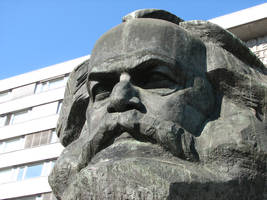 Monumental Bust of Karl Marx 4 by bitstarr
