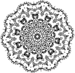 Snowflake Glyph Fractal transparent free design by dscript