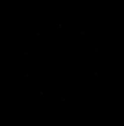 Snowflake made form reflected Dscript word glyphs by dscript