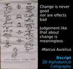 Change is Never Bad - Dscript Calligraphy by dscript