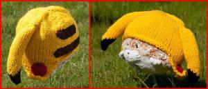 Pikachu Hat V2 by foxymitts