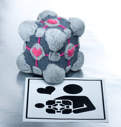Companion cube by foxymitts