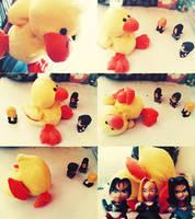 Duck vs. Mirai Fighters by suicidekills