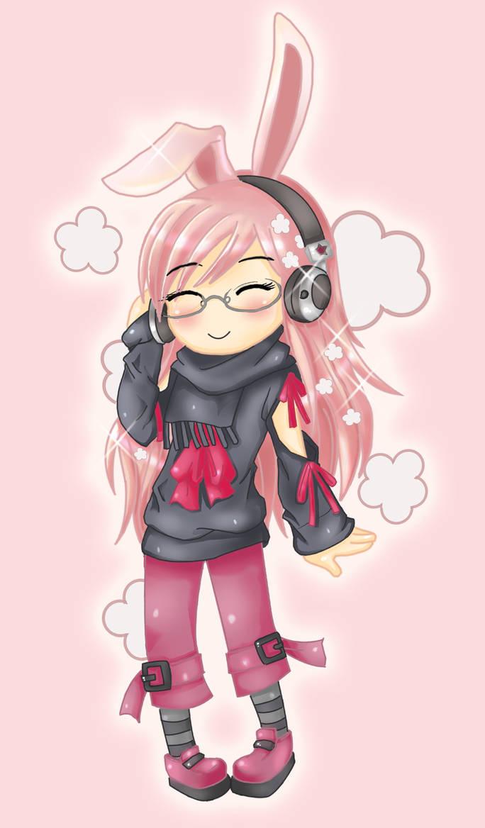 Headphone Bunny XD by narkAlmasy