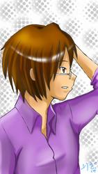A guy in purple by narkAlmasy
