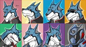 Faces of Doggie Kruger by TheGreatMatsutzu
