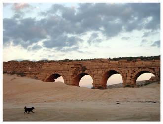 Aqueduct of Caesarea by maska13