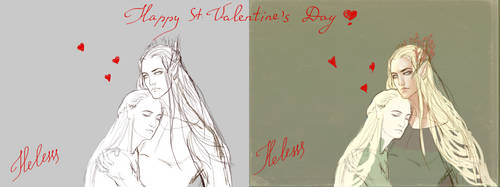 WIP^ Happy Valentine's Day!!! by Helesssart