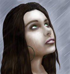 Meleena in the rain WIP by Alaric-the-Sinner