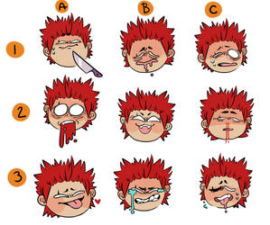 Expressions Meme: [Kirishima] by drowsydave