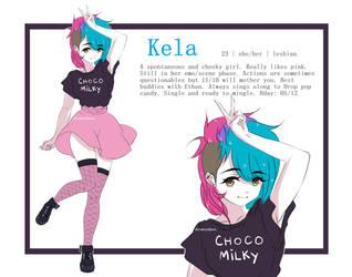 Kela OC Reference by drowsydave