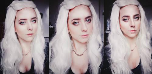 Daenerys Targaryen cosplay makeup by kanamecosplay