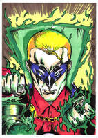 Green Lantern Sketch Card by aldoggartist2004