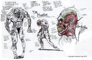Frankenstein Monster Concept Design by aldoggartist2004