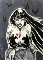 Sexy Vampire Sketch Card by aldoggartist2004