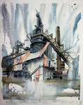 Abandoned Factory watercolor 1 by RafaCM