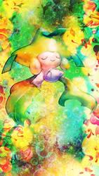Phone background - Jirachi by Maykka