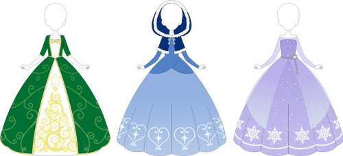ADOPTABLE: Christmas Gowns CLOSED by MappyMaples