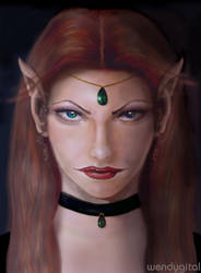 Gwen The Elf - Shadows by wendygital