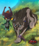Wolf and Midna by littlepolka