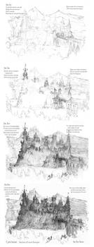 Four Step Castle Drawing Tutorial by Built4ever