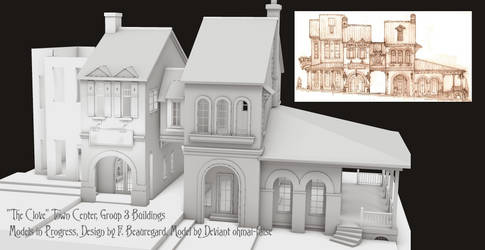 Group 3 Buildings in The Clove Town Design by Built4ever