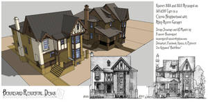 House 352 and 333 3D Models and Drawings by Built4ever