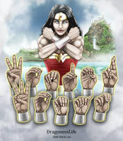 Wonder Woman Handshapes ASL by DragonessLife