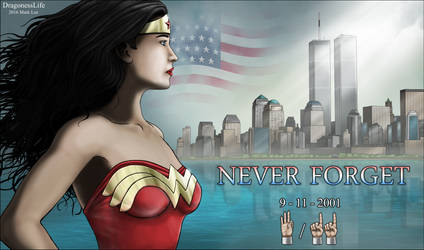 Wonder Woman and Never Forget 9 / 11 by DragonessLife