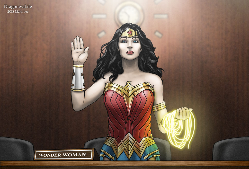I stand with Wonder Woman by DragonessLife