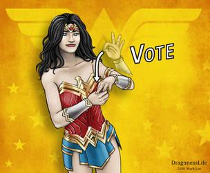 Wonder Woman ASL Vote by DragonessLife