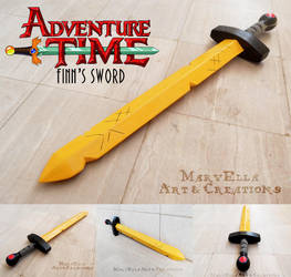 Adventure Time Finn's Sword - wood replica by MithriLady