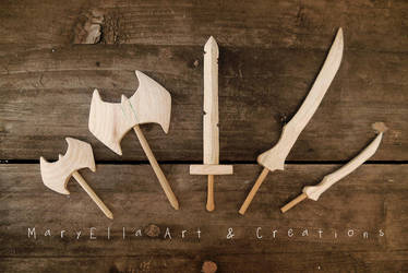 Mini Weapons - 6 mm thick wood by MithriLady