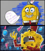 Some spongy drawings by SlimeyWoolHat