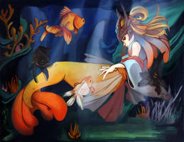 LOL: Goldfish Nami by jayoh28