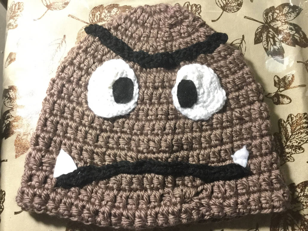 Super Mario Bros Goomba Crochet Hat adult sized by Diamond567 on ... 18482242f43