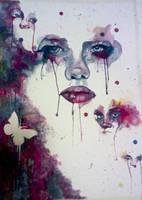 Watercolor faces by Randomizer13
