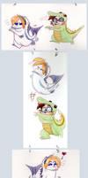Lizard and Fish by cozmictwinkie