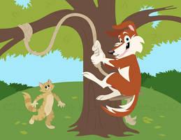Hot Damn Tree Swing by cozmictwinkie