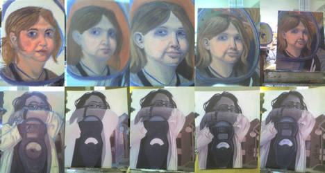 Portrait Progressions by cozmictwinkie