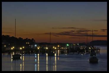 Harbor Sunset by Photo-Cap