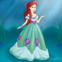 Ariel's New Sea Green Dress by Toyboy566