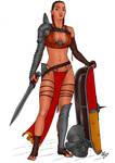 Gladiatrix - Murmillo (color) by Area283