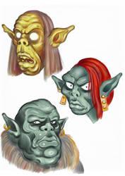 Faces 01 (sketch) by Area283