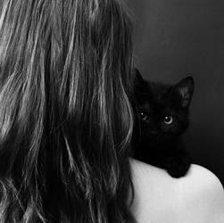 black cat by mmagni