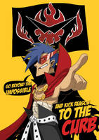 Commission: Kamina by SupaCrikeyDave