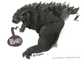 Godzilla by SupaCrikeyDave