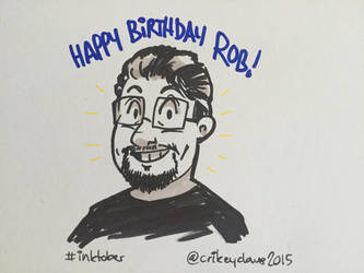 Inktober Day 12 - The Amazing Rob by SupaCrikeyDave