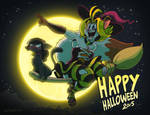 Happy Halloween with Sarah and Rachael by SupaCrikeyDave